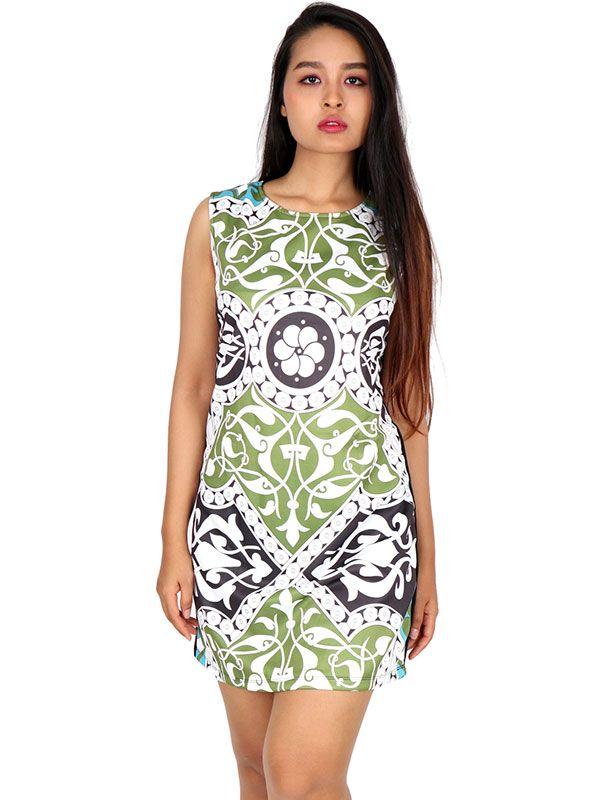 Vestidos Hippies Ethnic Boho - Vestido hippie étnico estampado [VEUN85] para comprar al por mayor o detalle  en la categoría de Ropa Hippie Alternativa para Chicas.