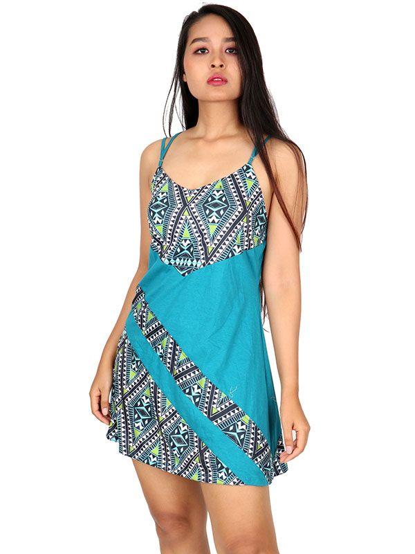 Outlet Ropa Hippie - Vestido hippie étnico estampado [VEUN86] para comprar al por mayor o detalle  en la categoría de Outlet Hippie Étnico Alternativo.