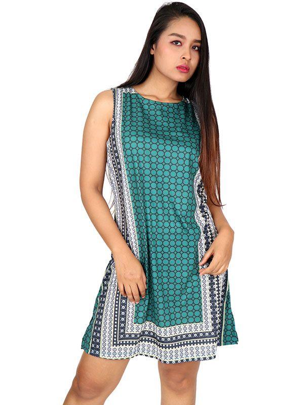 Vestido hippie étnico estampado VEUN88 para comprar al por mayor o detalle  en la categoría de Ropa Hippie Alternativa para Mujer.