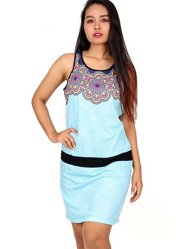 Vestidos Hippie Boho Étnico - Vestido pecho estampado étnico [VEUN95] para comprar al por mayor o detalle  en la categoría de Ropa Hippie Alternativa para Mujer.