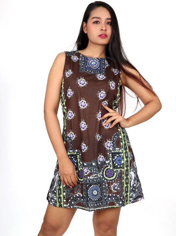 Vestidos Hippie Etnicos - Vestido hippie étnico estampado [VEUN97] para comprar al por mayor o detalle  en la categoría de Ropa Hippie Alternativa para Mujer.
