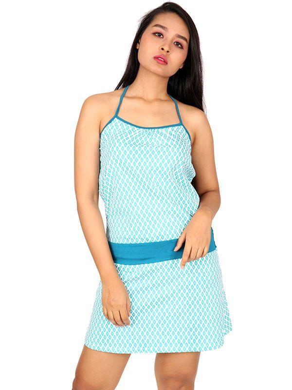Vestidos Hippie Boho Étnico - Vestido étnico estampado [VEUN98] para comprar al por mayor o detalle  en la categoría de Ropa Hippie Alternativa para Mujer.