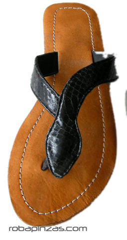 Sandalia Flip flop, suela sintética, planta de piel empeine en piel Comprar - Venta Mayorista y detalle