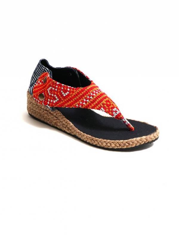 Sandalia Hmong de Cuña Abierta - Naranja Comprar al mayor o detalle