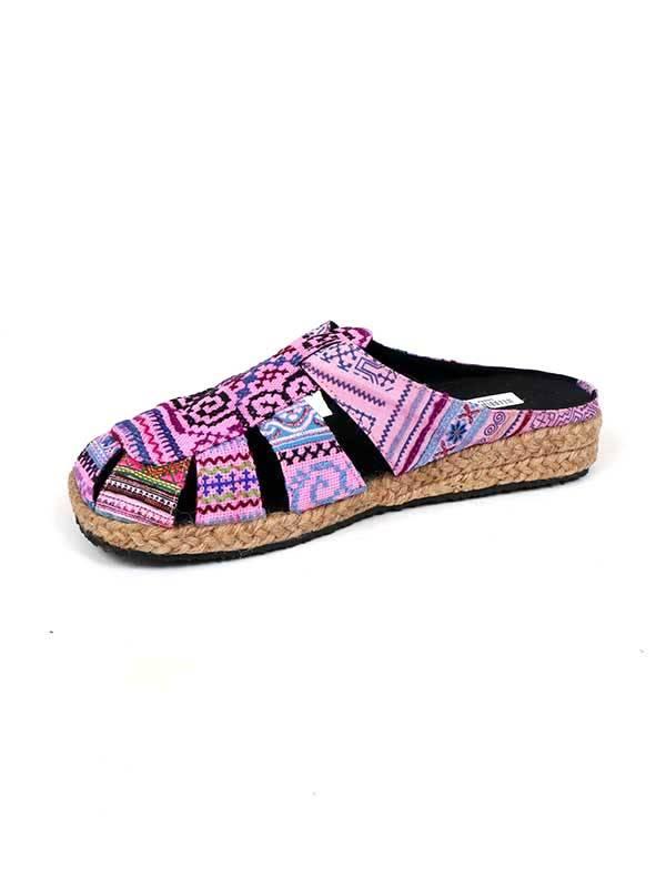Zueco Hmong telas étnicas [ZNN05] para comprar al por Mayor o Detalle en la categoría de Sandalias y Zuecos