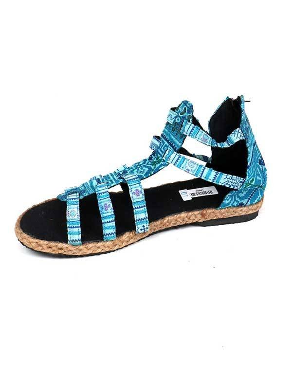 Sandalia bota Hmong estilo romana - Azul 20 Comprar al mayor o detalle