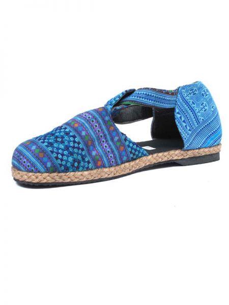 Sandalia cerrada étnica colores. zapato tipo menorquina con tira Comprar - Venta Mayorista y detalle