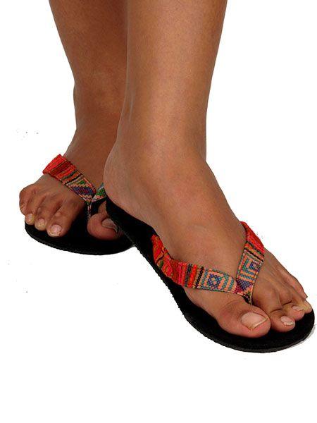 Sandalia flip flop étnica - Detalle Comprar al mayor o detalle