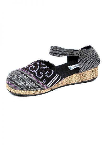 Zueco zapato estilo menorquina con cierre de velcro en cáñamo Comprar - Venta Mayorista y detalle