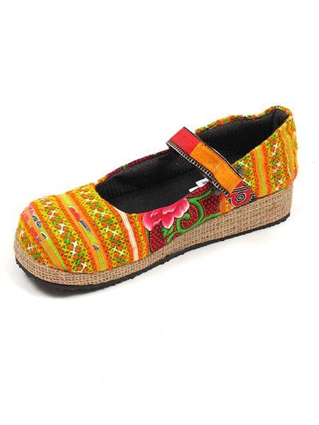 Sandalias Zapatos Zuecos - Zapato abierto punta redonda étnica [ZNN13] para comprar al por mayor o detalle  en la categoría de Sandalias Hippies Étnicas.
