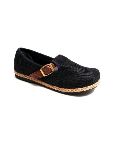Zapato étnico liso con hebilla - Negro Comprar al mayor o detalle