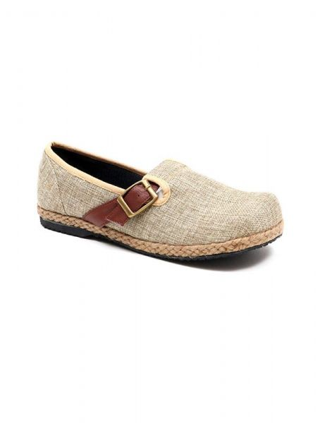 Zapato étnico liso con hebilla - Crudo Comprar al mayor o detalle