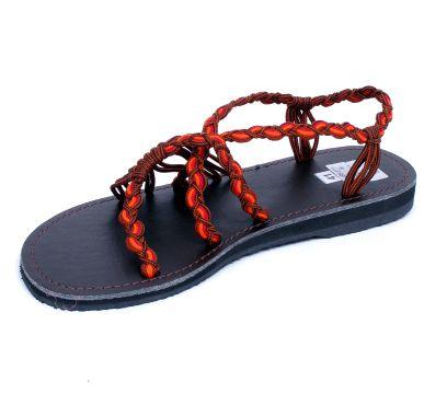 Sandalias Zapatos Zuecos - Sandalias de cordones en color teja. [ZSC07] para comprar al por mayor o detalle  en la categoría de Sandalias Hippies Étnicas.