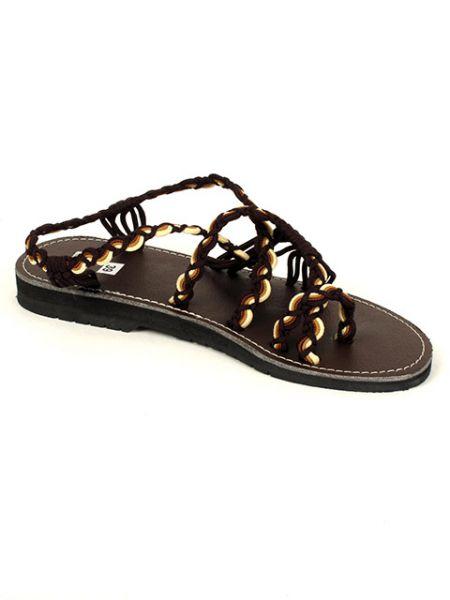 Sandalia tiras algodón marrones. [ZSC11] para Comprar al mayor o detalle