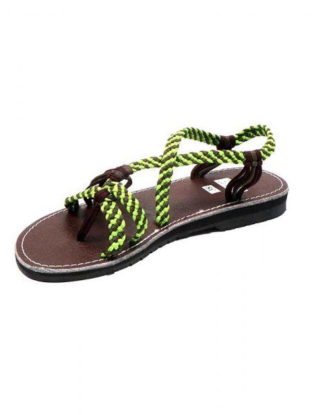 Sandalia hippie tiras algodón verdes. Comprar - Venta Mayorista y detalle