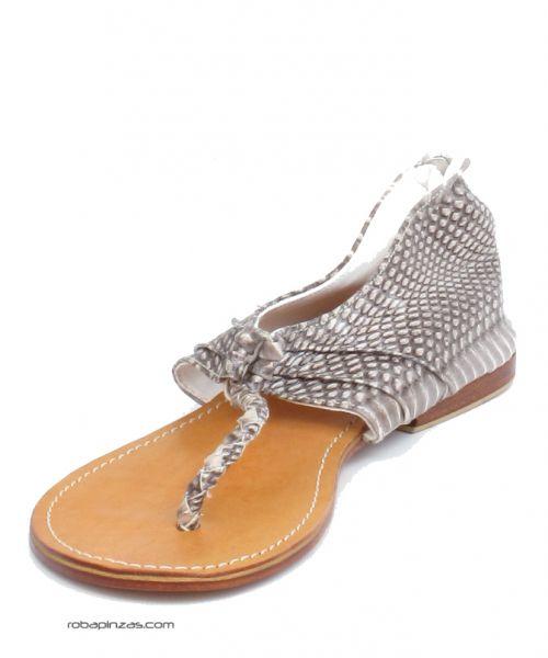 Sandalias piel de pitón, planta y suela en piel Comprar - Venta Mayorista y detalle