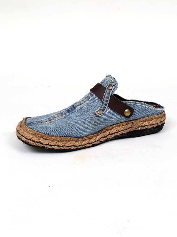 Zueco Jeans Reciclado y cáñamo - Marrón osc Comprar al mayor o detalle