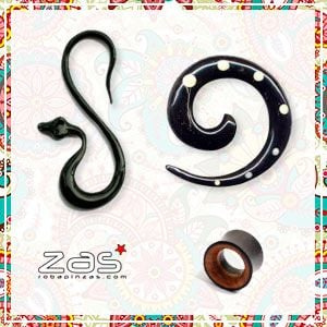 Horn and Bone Dilators and Plugs | ZAS Hippie Store to buy wholesale or detail