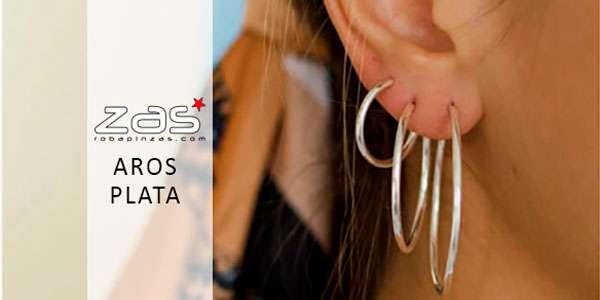 Aros y Pendientes de Plata  | ZAS para comprar al por mayor o detalle