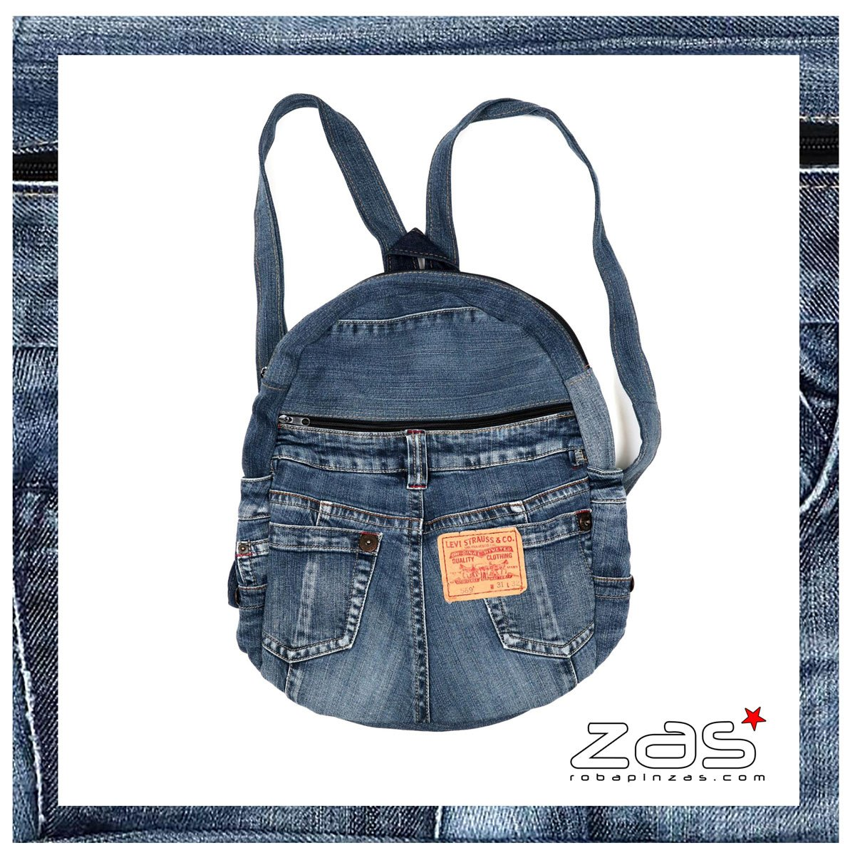 Borse e zaini realizzati con jeans
